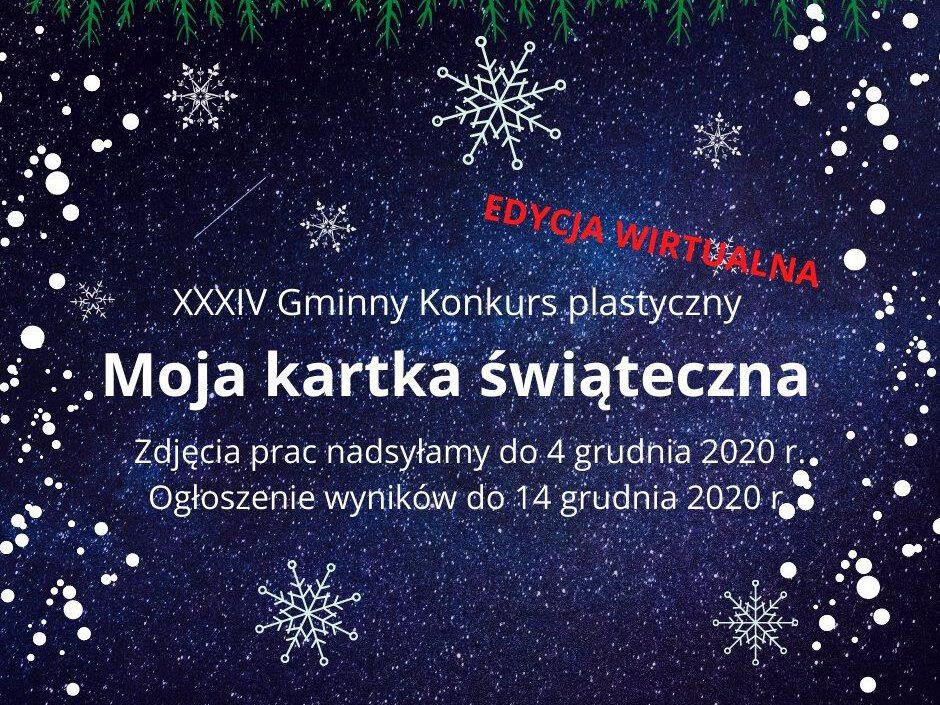 plakat kartka świąteczna