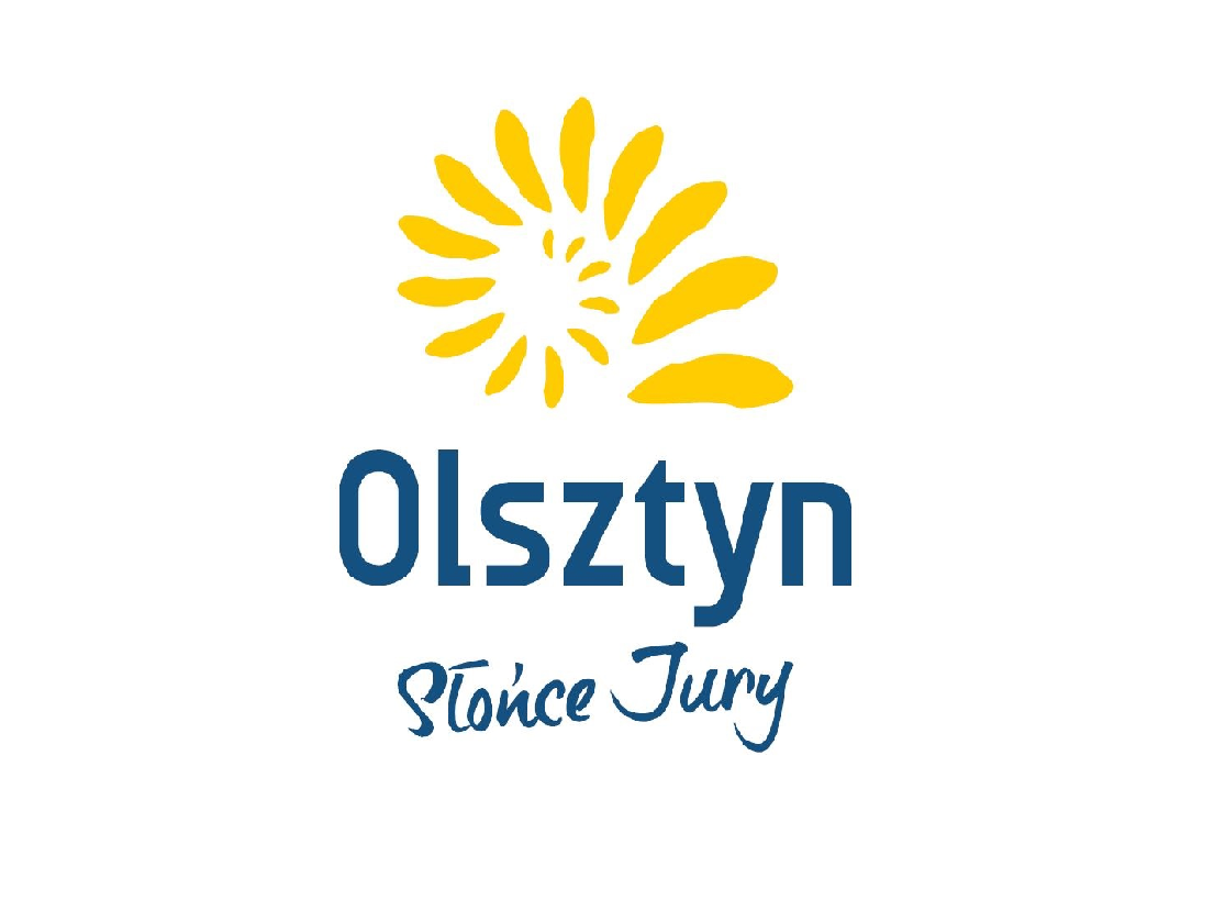 logo Gminy Olsztyn - amonit z napisem Olsztyn Słońce Jury