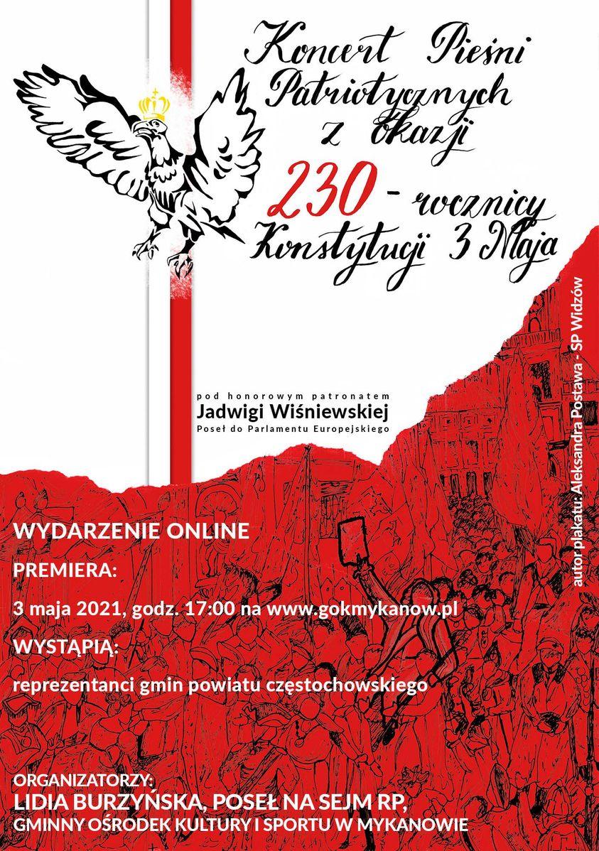 plakat koncert z okazji swięta konstytucji