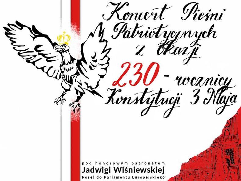 plakat koncert piesni patriotycznych