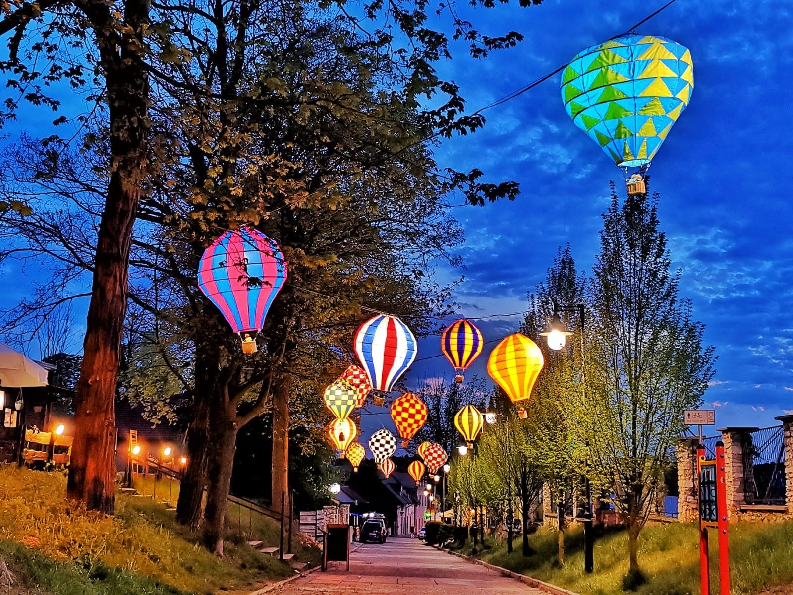 instalacja balonowa