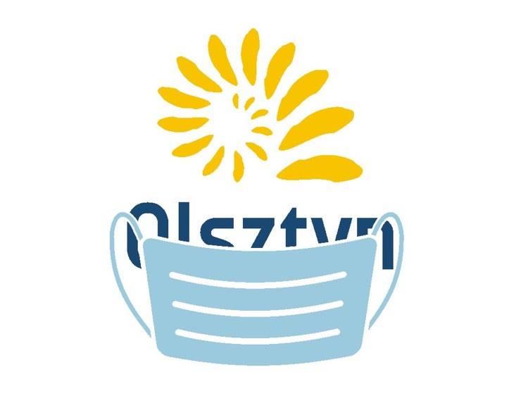 logo w maseczce
