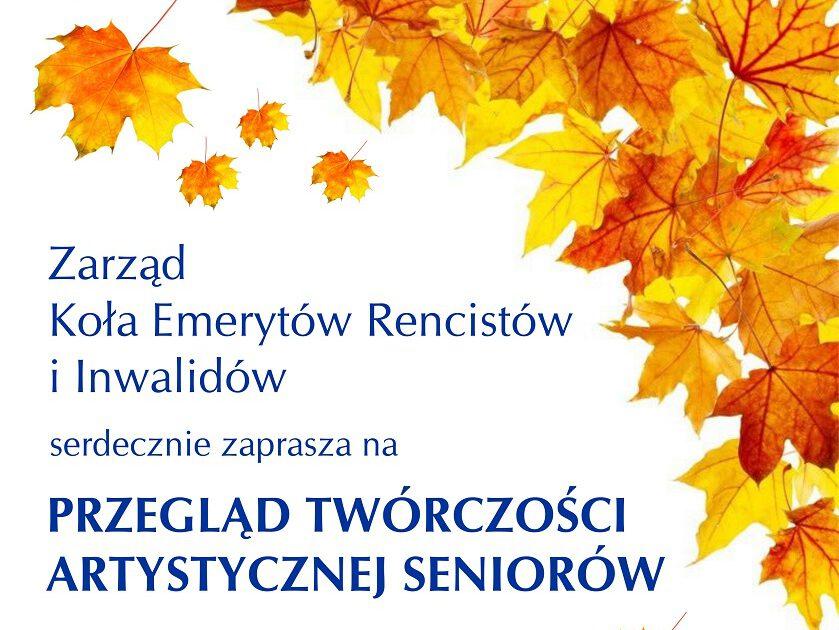 plakat koncert seniorzy